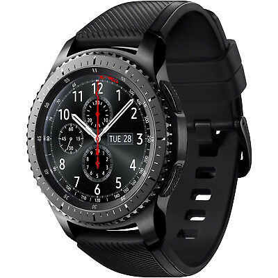 SAMSUNG  Gear S3 Frontier Smartwatch Silikon, 22 mm, Korpus: Space Gray, Silikon