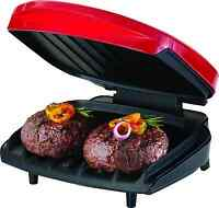George Foreman Champ Countertop Nonstick Indoor Electric Kitchen Grill Press Red on sale