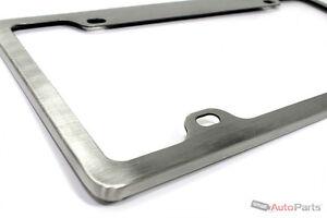 image is loading real brushed aluminum custom metal license plate frame