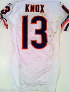 Details about JOHNNY KNOX CHICAGO BEARS 2009 ROOKIE GAME USED JERSEY