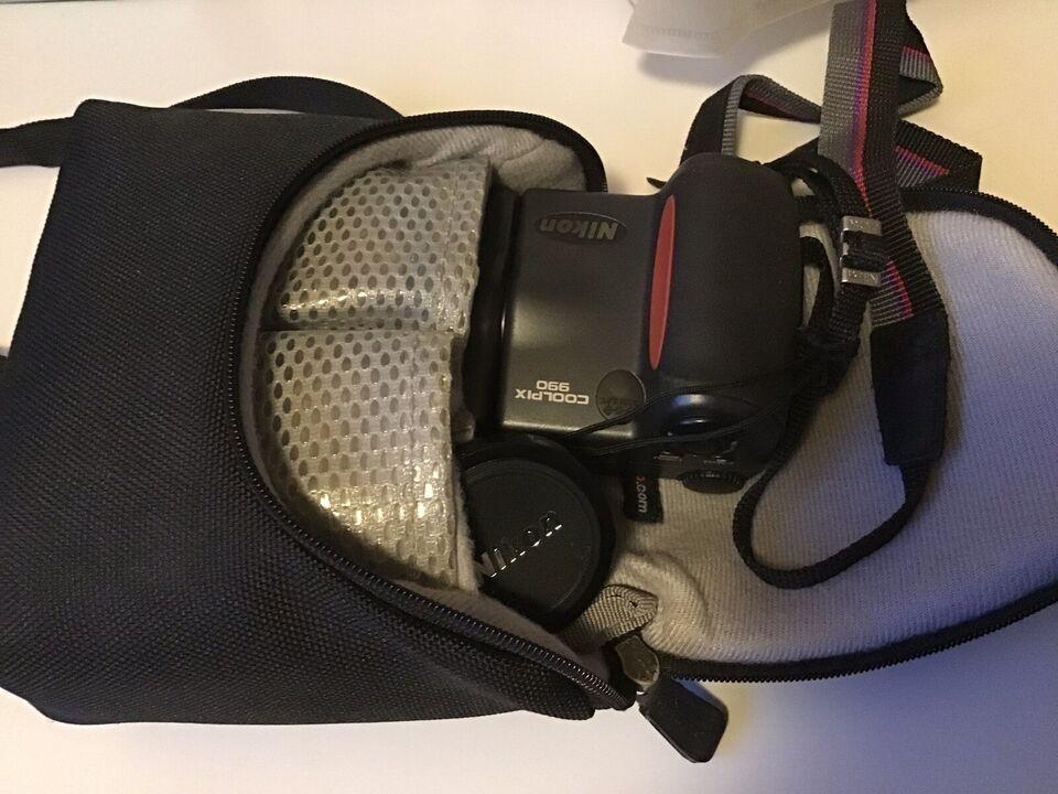 Nikon Coolpix 990, 3.34 megapixels, 3 x optisk zoom