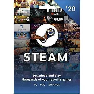 Steam 20$ Gift Card Wallet