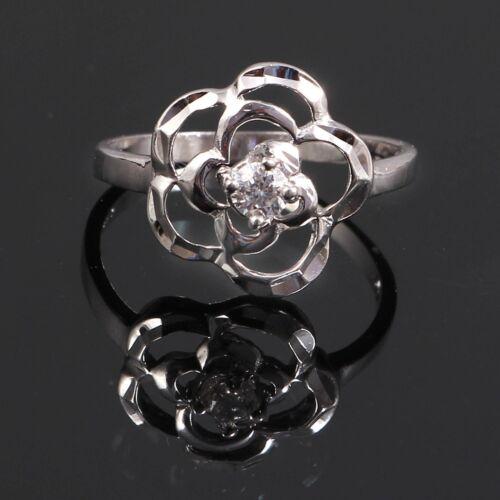 925 Sterling Silver Diamond Zircon Wedding Ring Jewelry Free Shipping AJ13