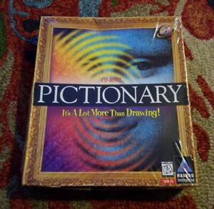 New! Sealed Pictionary PC Windows 95 CD-ROM Hasbro Word Trivia Game BIG BOX!!
