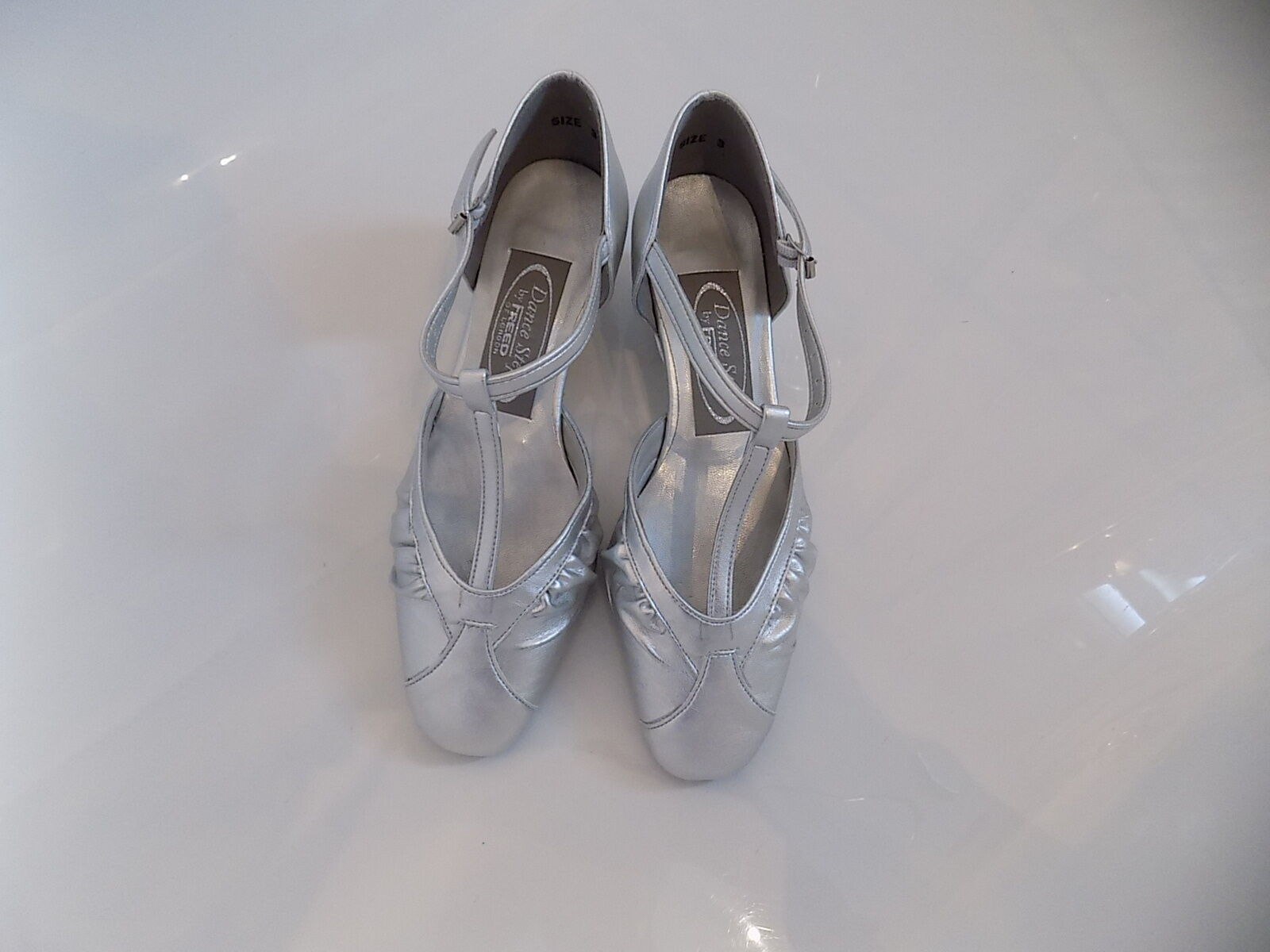 Freed of London Dance Steps Diamond Silver shoes size 3