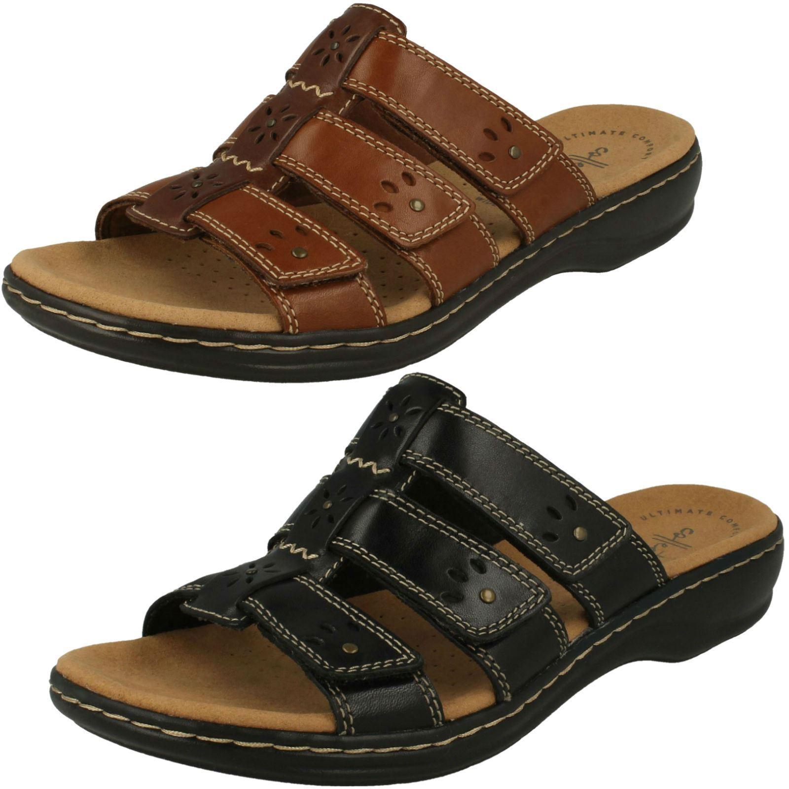 Ladies Clarks Slip On Mule Sandals 'Leisa Spring'