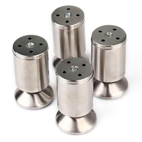 4pcspack Stainless Steel Kitchen Adjustable Feet Height Furniture Leg Silver
