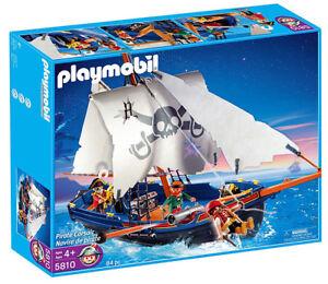 Playmobil-5810-barco-pirata-y-de-la-tripulacion-con-Canon-Pirata-Corsario