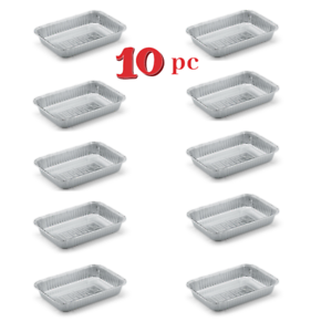 Weber-Small-Drip-Pans-Aluminum-BBQ-Grease-Catch-Tray-Grill-Cooking-Accessories