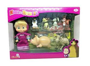 Masha-and-the-Bear-Masha-with-Animal-Friends-Rare-SIMBA-Juguete-masha-y-el-oso