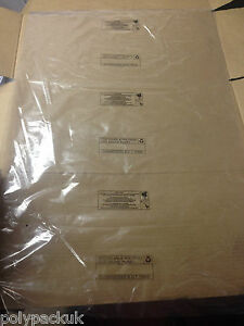 """25 Small Clear Polythene Plastic Bags 10"""" x 12"""" (packaging/packing) Free P&P PWN"""