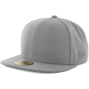 New-Era-Plain-Tonal-59Fifty-Fitted-Hat-Grey-Men-039-s-Blank-Cap