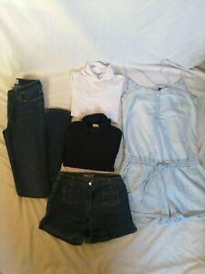 LOT-de-5-vetements-femme-fille-ado-XS-short-jean-Galerie-La-Fayette-pull-Kookai
