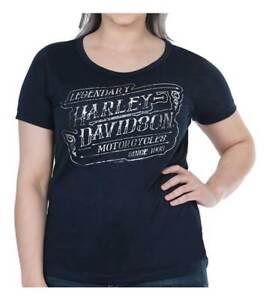 Harley-Davidson Women/'s Global Embellished Short Sleeve Dolman Tee White