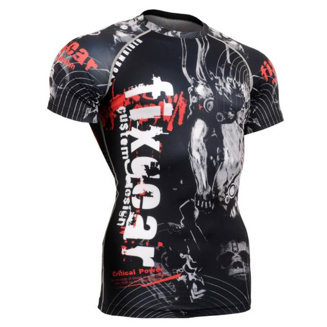 FIXGEAR CFS-30 Compression Base Layer Short Sleeve Shirts, Workout Fitness MMA
