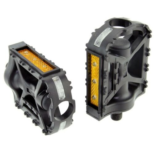 LED Light UP 1//2 inch BMX Mountain Black Plastic Bike Bicycle Cycling Pedals