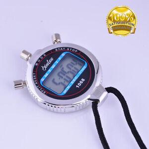 Wasserdicht-Digital-Stoppuhren-Handheld-Sport-Timer-Stoppuhr-LCD-Chronograph-DE