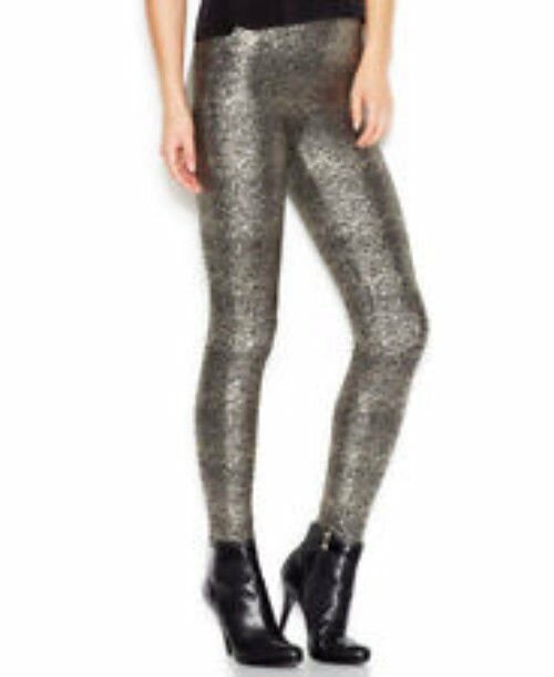 ef3f0e1273497 Kate Spade Glitter Front Legging Leggings Womens Size M / L Black With Gold  for sale online | eBay