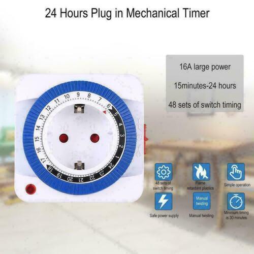 24Stunden mechanischer Zeitschaltuhr Steckdosenschalter Zeitschaltuhr Steck P7L8