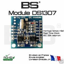 Module RTC horloge DS1307 avec flash 32K AT24C32 Arduino I2C TWI