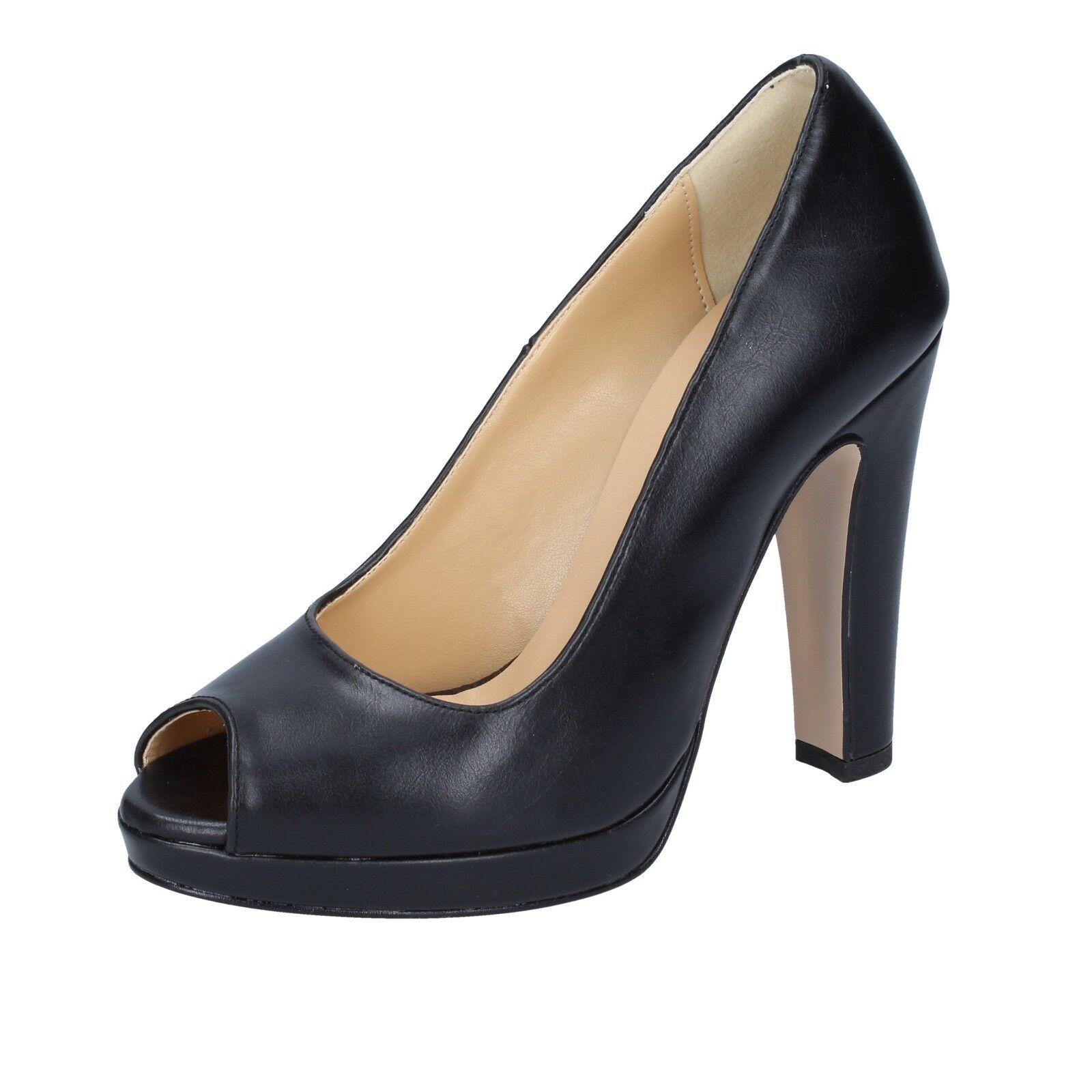 shopping online di moda Scarpe Scarpe Scarpe donna OLGA RUBINI 39 EU decolte nero pelle BS101-39  di moda
