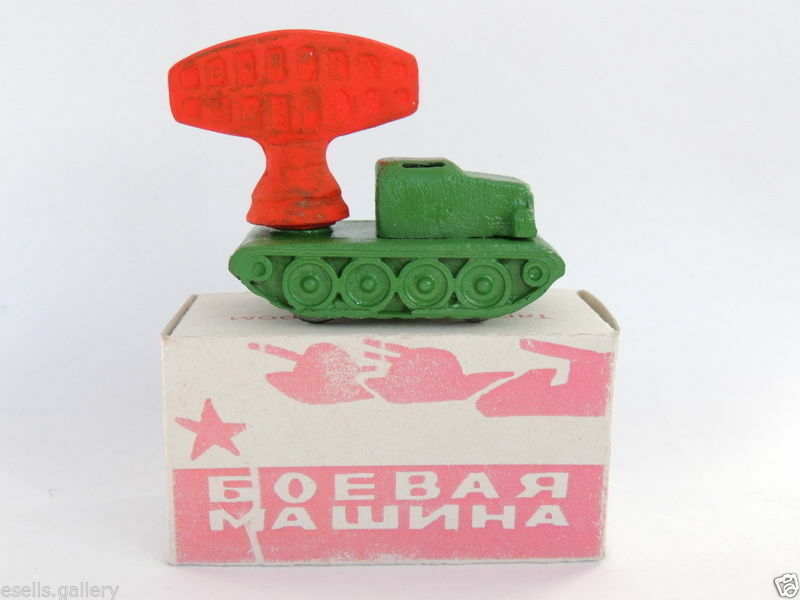 Rare Vintage Russian USSR Red Army Military Vehicles Vehicles Vehicles WW2 Tractor Locator Tin Toy c795d0