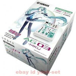 yamaha ag03 miku webcasting mixer 3 channel hatsune miku
