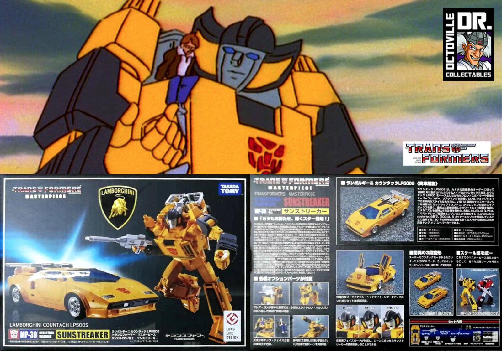Transformers Takara Tomy Masterpiece MP-39 sunstreaker Nuovo di Zecca