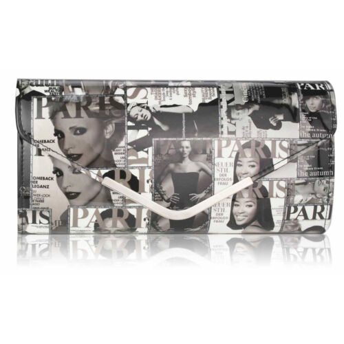 Womens Clutch Bags Ladies Magazine Style Evening Prom Party Handbags