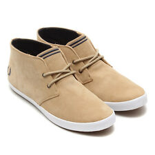 Fred Perry Shoes Desert Boot, Byron Mediados de gamuza beige UK9/EU43