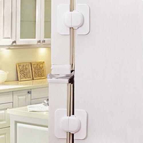 Kids Safety Door Lock Proof Cupboard Fridge Cabinet Child Prevent Clamping NEW T