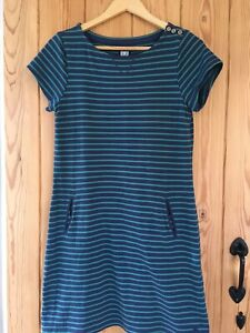 MANTARAY-blue-With-Green-Striped-Dress-Size-12