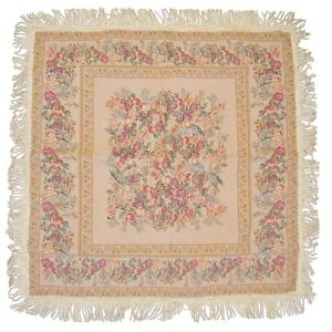 DaDa-Bedding-Rococo-Wildflower-Floral-Beige-Square-Circle-Tapestry-Table-Cloth