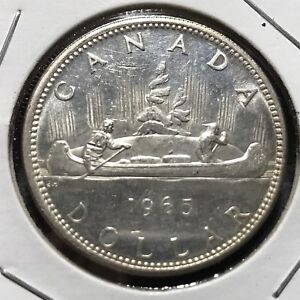 1965-CANADA-SILVER-DOLLAR-BRILLIANT-UNCIRCULATED-CROWN
