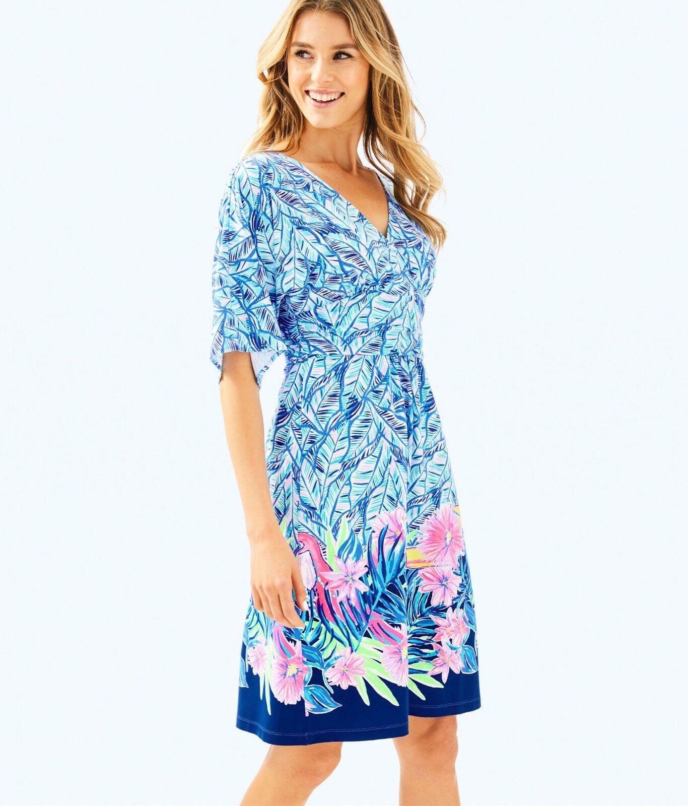 178 NEW Lilly Pulitzer PARIGI DRESS Bennet bluee bluee bluee Lets Mango Dress White M XL 73e9bb