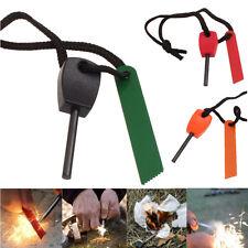 Magnesium Flint Stone Fire Starter Lighter Emergency Survival Camping Gear Kit
