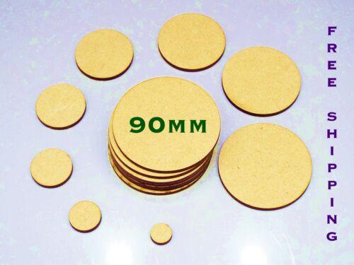 Paquete De 10 gran oferta 90mm Liso De madera círculos Warhammer base Embelishments
