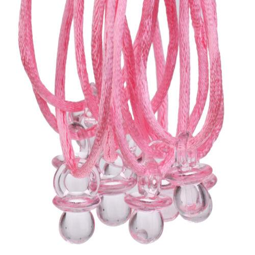 10pcs Lovely Mini Pacifier Pendants Necklaces Game Prizes Baby Shower Decoration