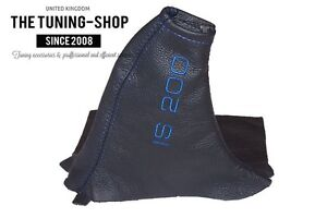 """Shift /& E Brake Boot For Mini Cooper S-One Leather /""""S/"""" Blue Double Embroidery"""