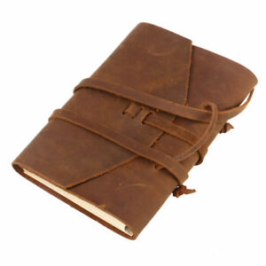 Blank Paper Leather Cover Journal TRAVEL Notebook Travellers Diary Handmade Gift 715973462860