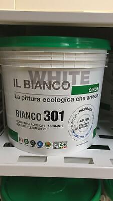 Bianco 301 Oikos Pittura Per Interni Traspirante Coprente Riempitiva Lt 4 Ebay