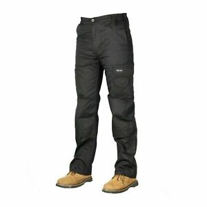 Mens-Cargo-Combat-Work-Trousers-Size-30-to-48-Black-Working-cargo-trousers