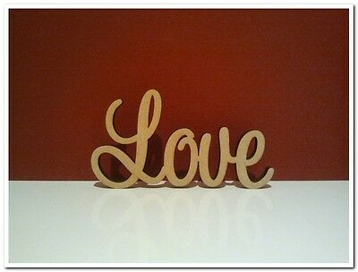 Medium size freestanding wooden word Love sign 10cm tall Wedding Decor