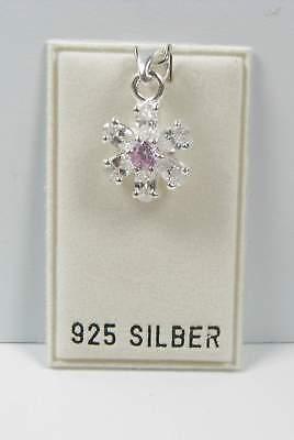 Uhren & Schmuck Liberal Neu 925 Silber AnhÄnger Mit Zirkonia Steine In Kristallklar/rosa KettenanhÄnger Die Neueste Mode