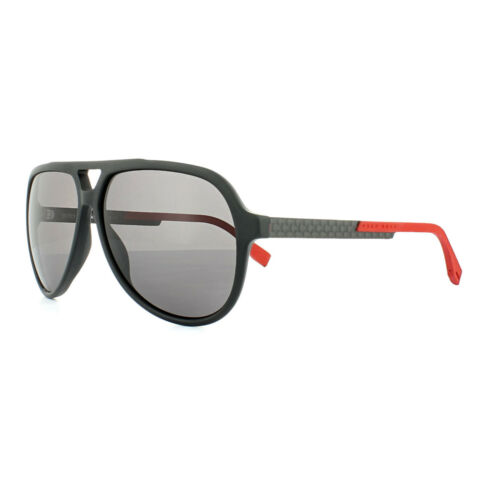 Hugo Boss Sunglasses 0731 KDG 3H Black Carbon Red Grey Polarized