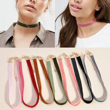 Fashion 7Pcs/Set Velvet Choker Collar Pendant Necklace Gothic Punk Jewelry