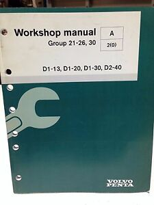 volvo penta workshop manual group 21 26 30 p n 7745200 dbx2 ebay rh ebay com Volvo Manual Jpg volvo penta d1-20 service manual