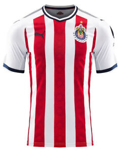 9a1b51b46b2 PUMA CHIVAS DE GUADALAJARA JERSEY LOCAL HOME 2017 2018 SHORT SLEEVE ...