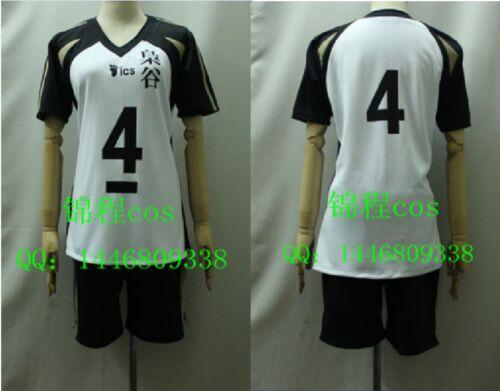 Haikyuu Volleyball Kotaro Bokuto No 4 Costume Sportswear Cosplay Jersey Track