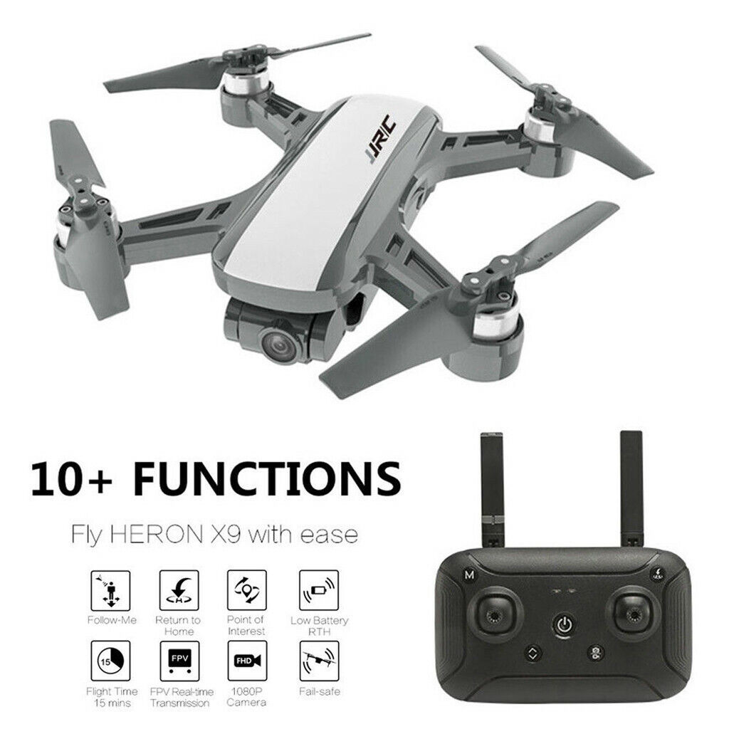 JJRC Fly Heron X9 GPS  5G WIFI aerei FPV RC Drone 1080P telecamera Quadcopter RTF  nuovo di marca